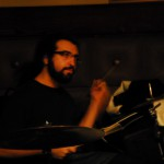 Charles playing drums at the Pig N Whistle in Hollywood