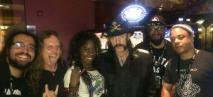Charles and the Sonia Harley band with Motorhead's Lemmy